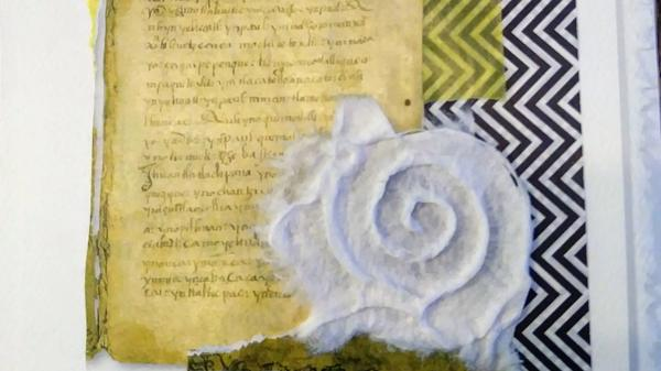 mixed media letters