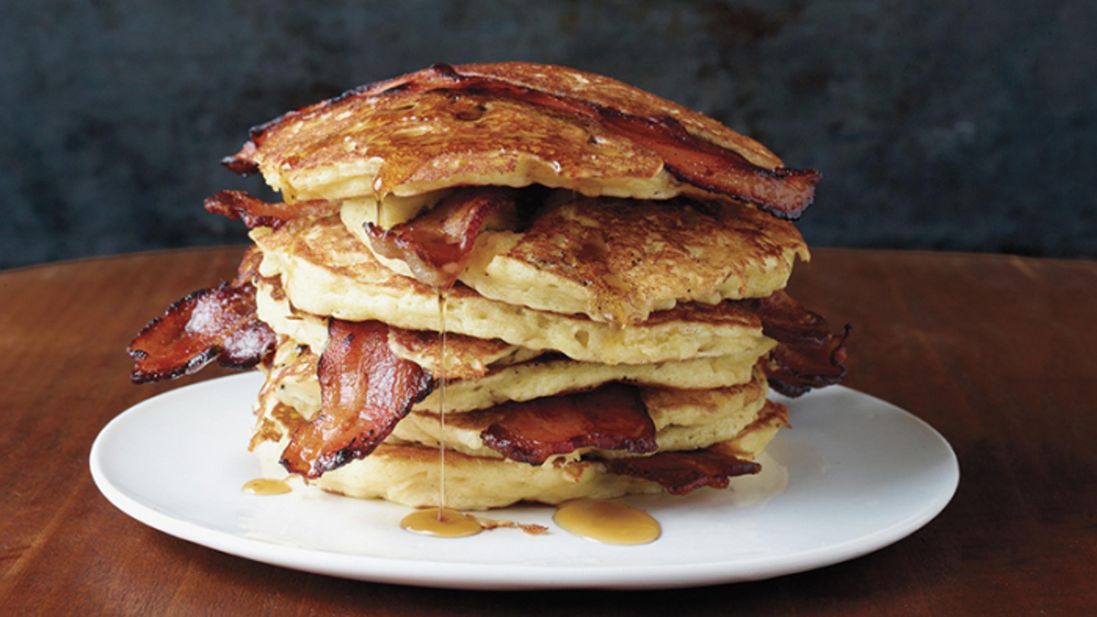Pannekaker med bacon – blir det bedre?