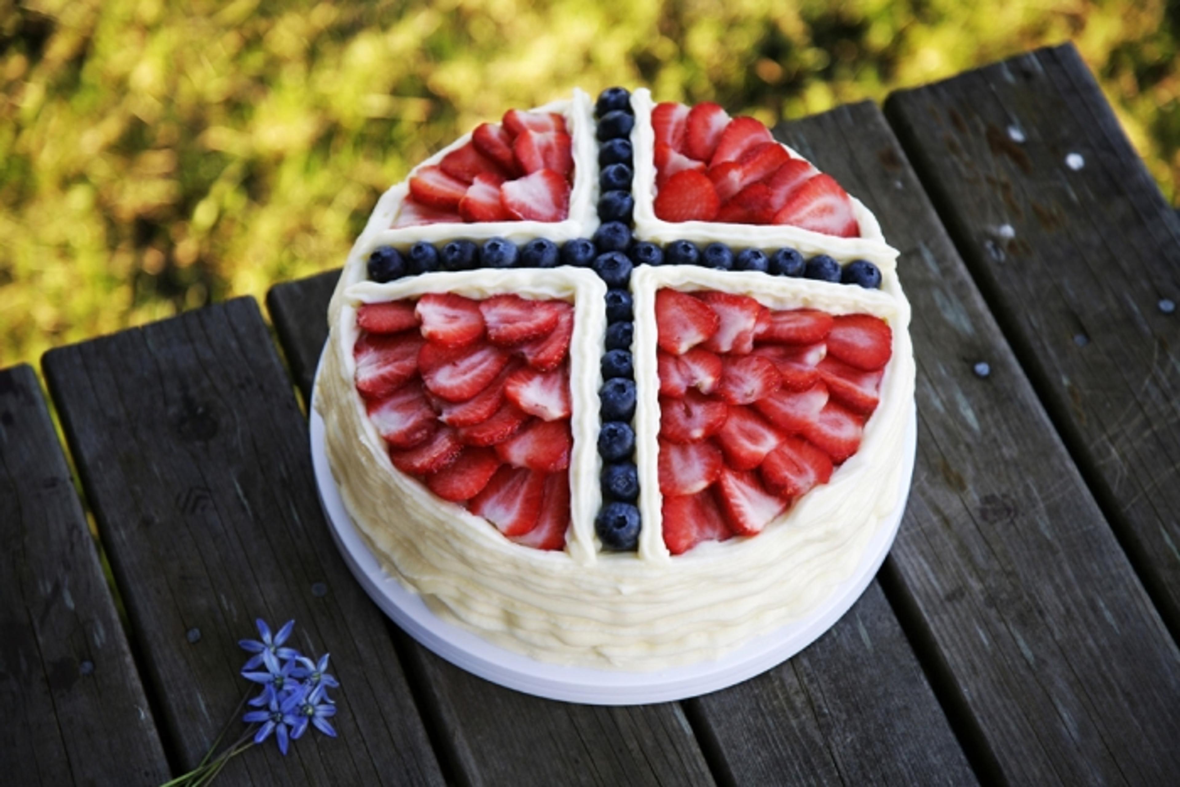 For den avanserte – 17. mai-kake i flaggets farger
