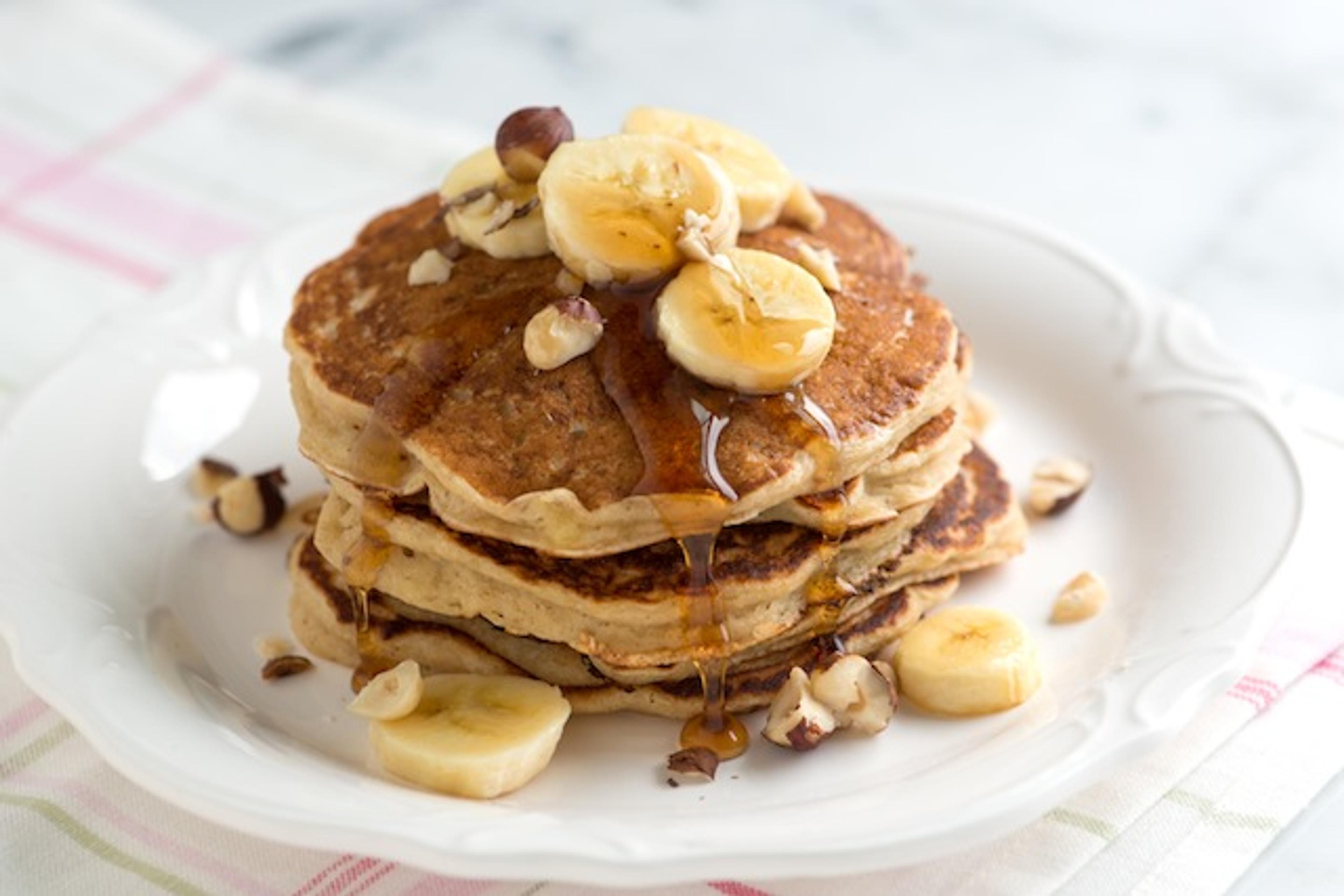 Prøv disse sunne og enkle bananpannekakene!