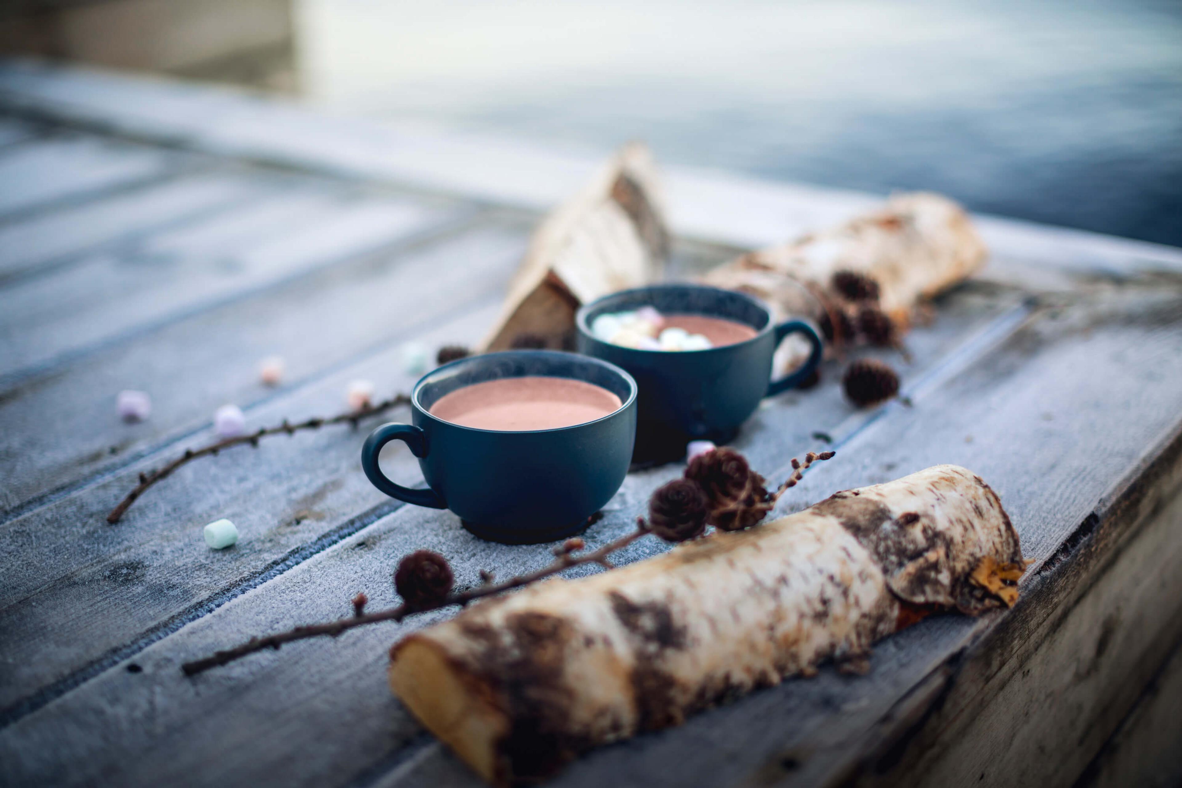 Hjemmelaget varm sjokolade med trøfler