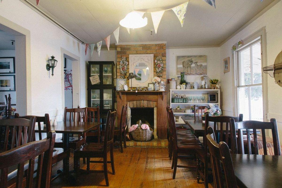 Shamrock cottage historic cafe interior