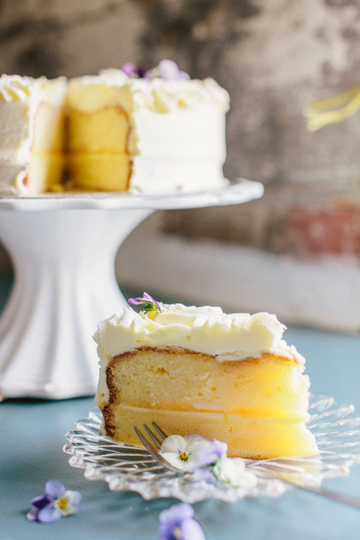 High tea cakes on plate