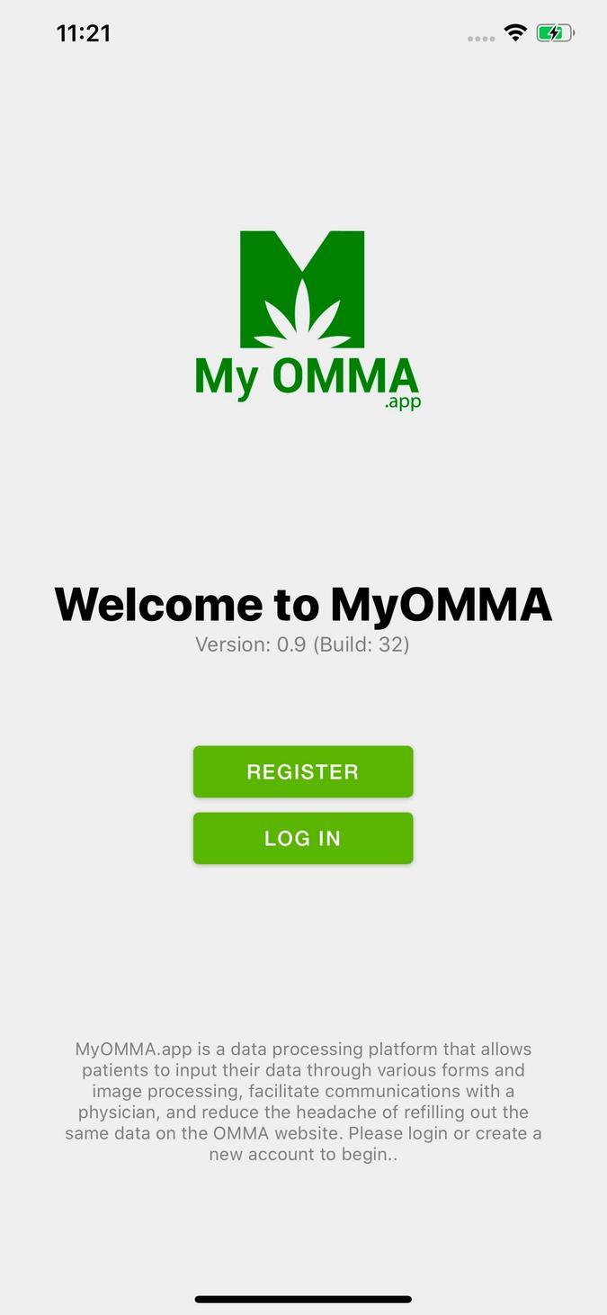 MyOMMA screenshot