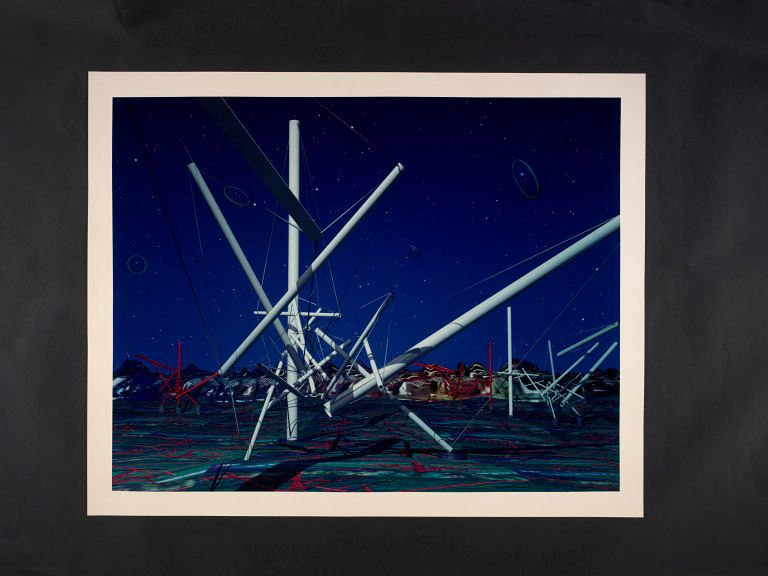 Kenneth Snelson, Forest Devils' Moon Night, 1991, C-type print, Given by the American Friends of the V&A through the generosity of Patric Prince, Copyright © Victoria and Albert Museum, London [5]
