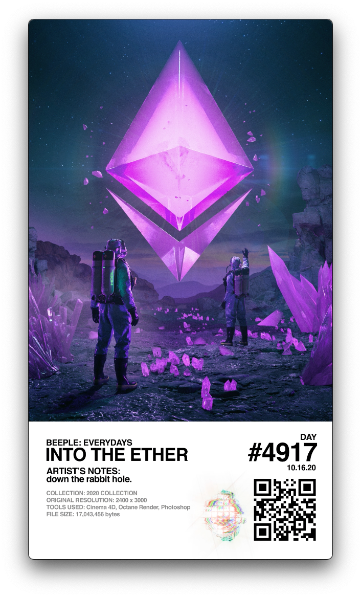 INTO THE ETHER #188/207 –Beeple
