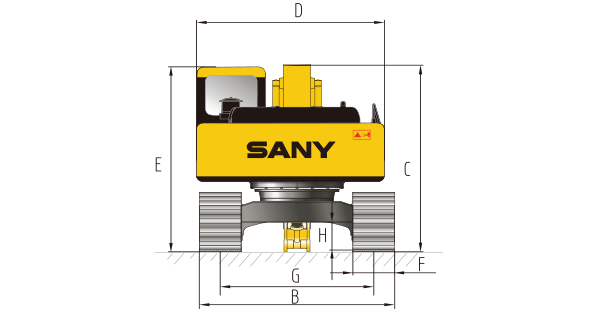 Sany SY215c specs sheet details