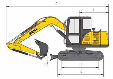 Sany SY75c specs sheet details