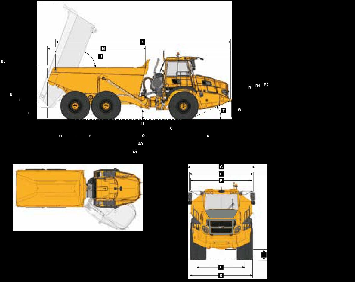 Bell B25E Dimensions Sheet
