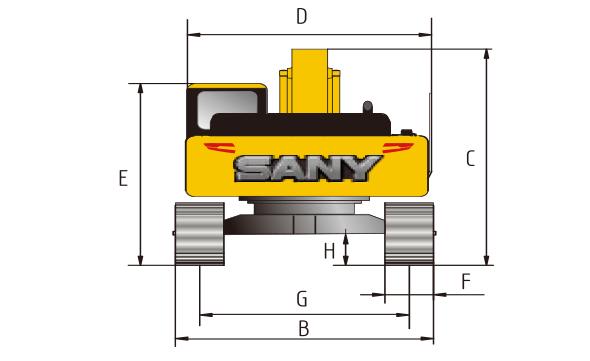 sany-sy500h-excavator-working-range-chart