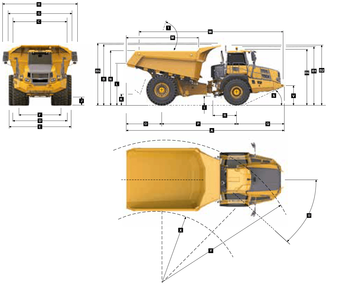 dimensions for bell b60e