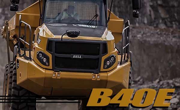 Bell B40E truck on a jobsite hauling a load
