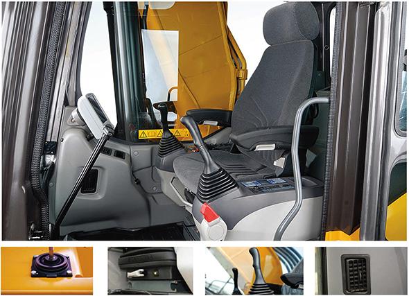 interior comfort of a sany sy365c excavator