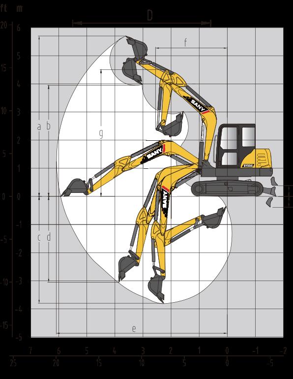 Sany SY60C specs sheet details