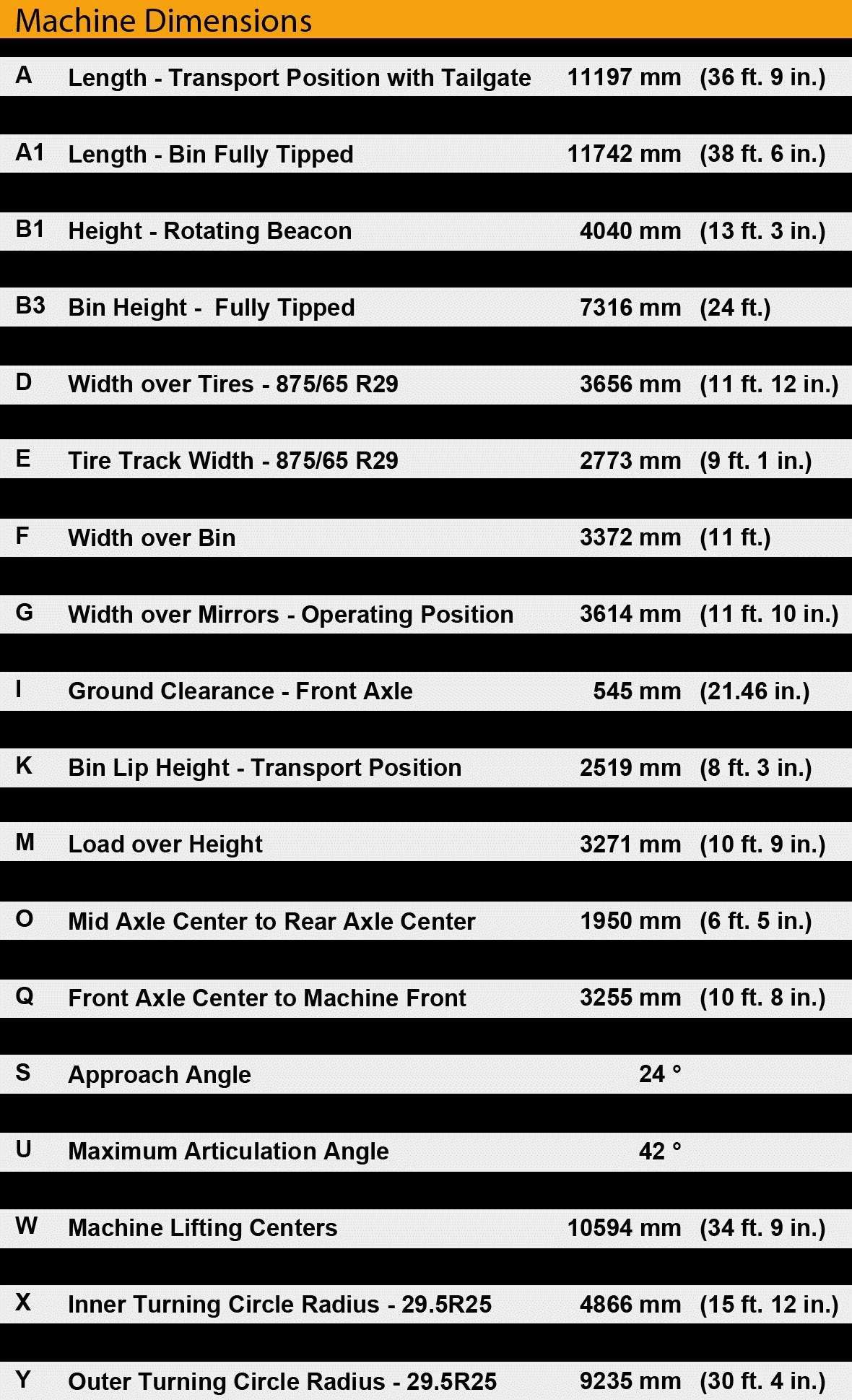 bell b45e dimensions chart