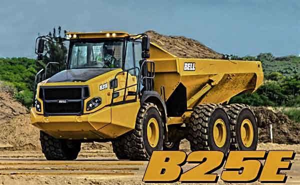 Bell B25E Articulated Dump Truck on a job site working