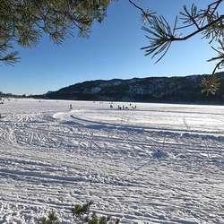 Ulvenvatnet laurdag 13. februar. (Foto: Kjetil Vasby Bruarøy)