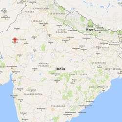 Jodhpur ligg nordvest i India. (Google Maps)