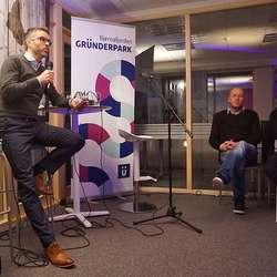 Olav Hovland frå Sparebanken Vest. (Foto: KVB)