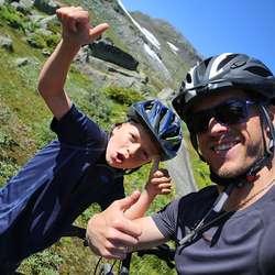 Bo og pappa André klar for start. (Foto: André Marton Pedersen)