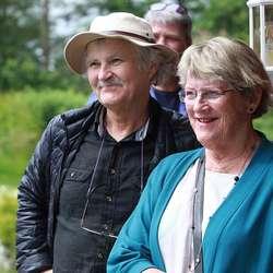 Grunneigar og del av første styret, Norvald og Inger Kobbeltvedt. (Foto: KVB)