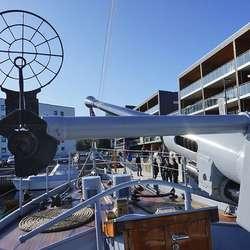KNM Hitra er einaste norske marinefartøy frå WW2 som framleis er i drift. (Foto: KVB)