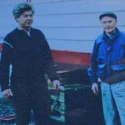Arne K. og Kristian i 1991.