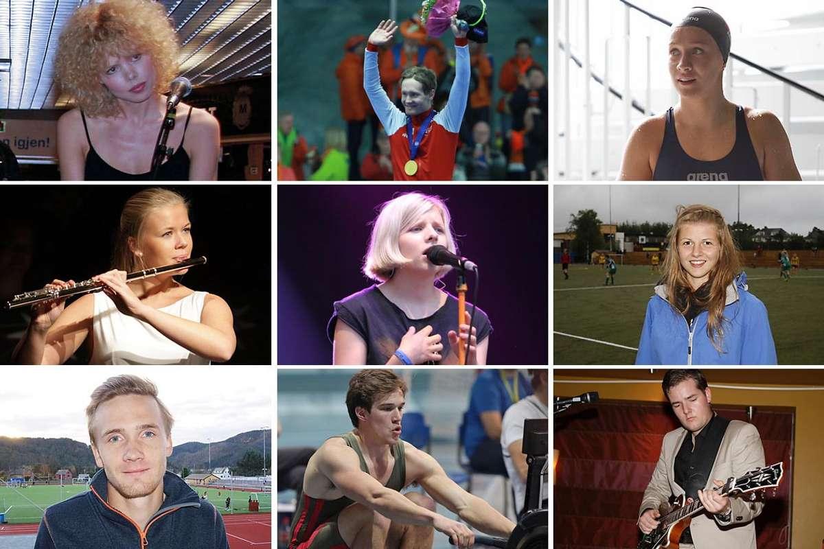Her er 9 av dei 19 siste mottakarane av Os kommune sitt kulturstipend. (Alle foto: Midtsiden)