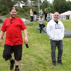– Vi håper å gjera siste festival til den beste, seier Even Hjertaas (t.v.). (Foto: KVB)