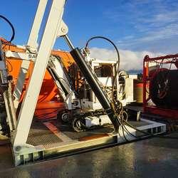 Eigenutvikla, fjernstyrt undervannsmaskin. (Foto: KVB)