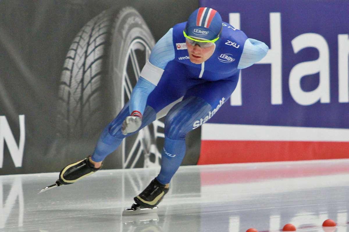 Sverre kan no konsentrera seg om å spissa formen inn mot VM. Her i Inzell i 2019. (Foto: Kjetil Osablod Grønvigh)