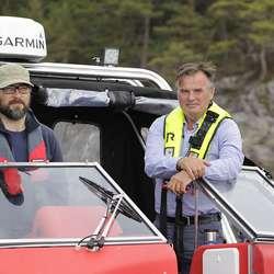 Geir Magne Knutsen frå Bremnse Seashore (th.) var med på første runde. (Foto: KVB)