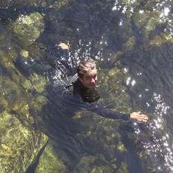 Herrelagsspelar Even hadde i oppgåve å hjelpe dei som satt seg fast undervegs (foto: AH)