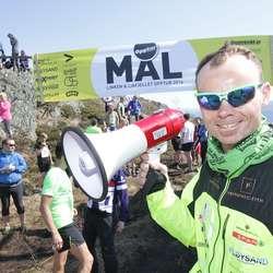Bjørn Tore Taranger tok NM-sølv i 100 km dagen før. På Linken var han speaker. (Foto: KVB)