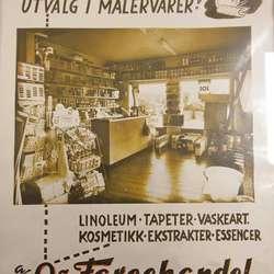 Haldor Øvredal starta Os Fargehandel i 1952. (Privat foto)
