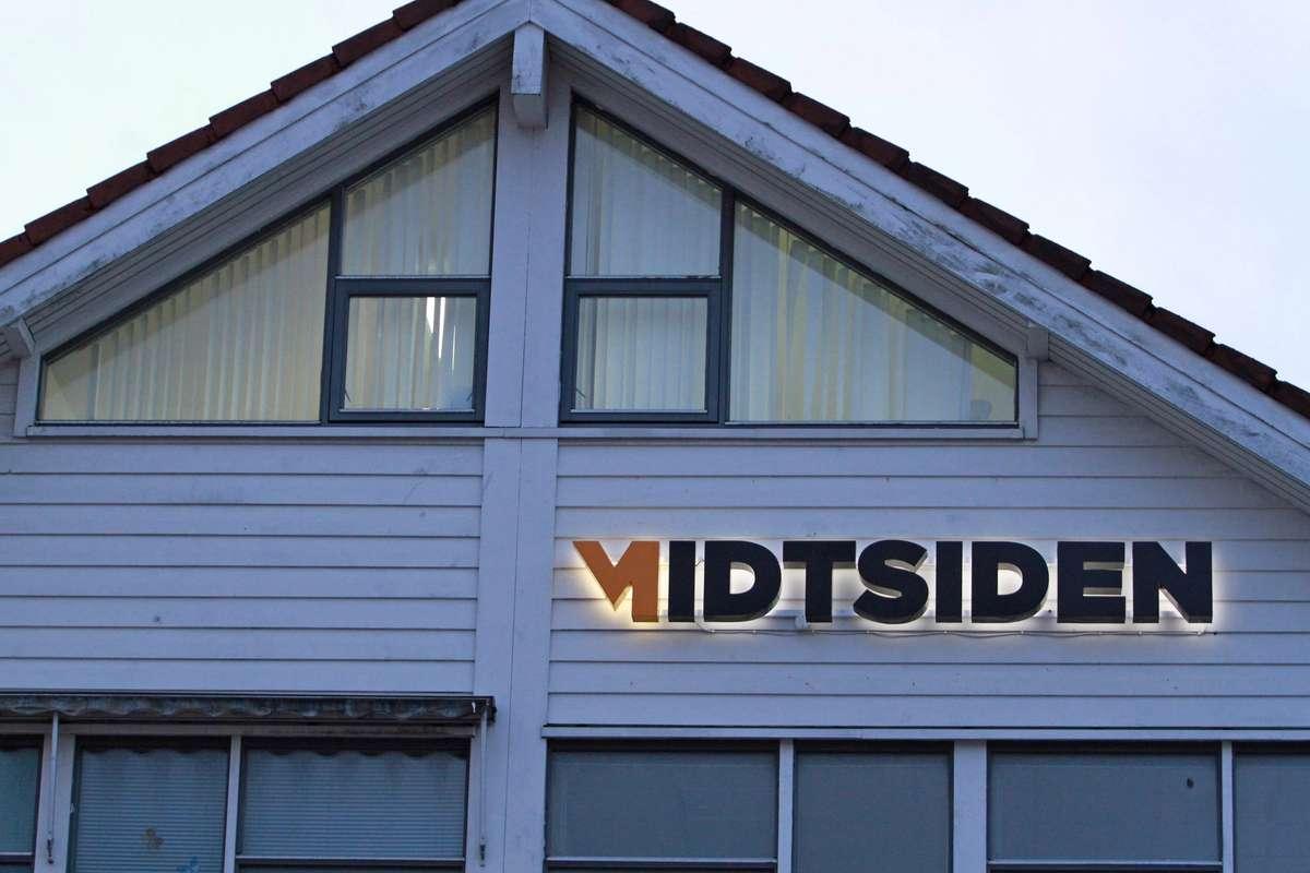 Midtsiden sitt kontor i 4. etasje i Smiegården. (Foto: Kjetil Vasby Bruarøy)