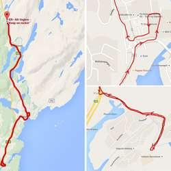 Paraden startar ca 18.30. Her er ruta. (Google Maps)