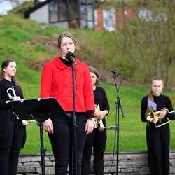 Os Minnepark, frigjerings- og veterandagen fredag 8. mai 2020. (Foto: Christina Forstrønen Bruarøy)