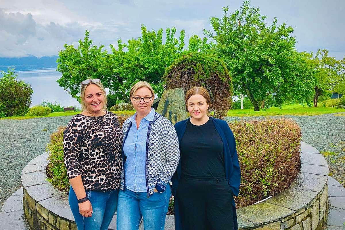 Dei tre eigarane i Bjørnafjorden Hotel AS, Iselin Borge, Vibeke Borgen og Anne Siri Vivås. (Foto: ØH)