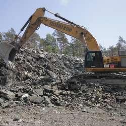 80 tonn! Denne maskina måtte demonterast før frakt. (Foto: KVB)