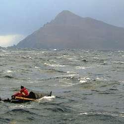 Audun brukte berre tre timar på å ro dei ni nautiske mila rundt Kapp Horn.