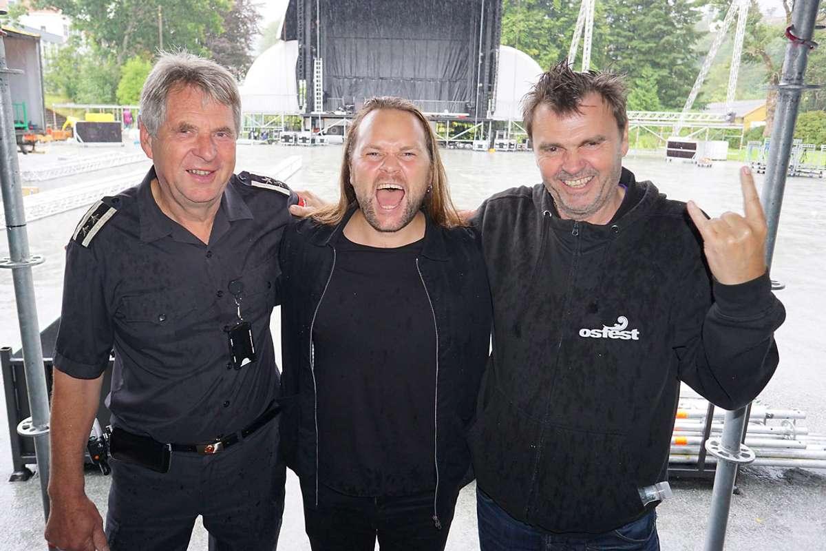 F.v.: Arne Monsen, Eirik Søfteland og Tor Egil Hylland. (Foto: Kjetil Vasby Bruarøy)