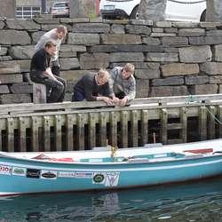 Staben på Oselvarverkstaden fatta raskt interessa for den baskiske båten Traînière