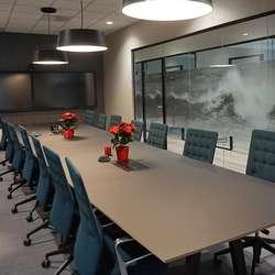 Det største møterommet har vore mykje brukt denne første hausten.