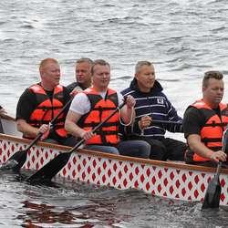 Odin Offshore rakk ikkje prosesjonen, men kom til start. (Foto: KVB)