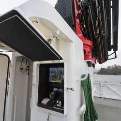 Overvaking og styring av kran på 110 tm (20 meter lang). (Foto: KVB)