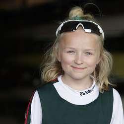 Yngste deltakar, Linn Kristin, tok 2. plass. (Foto: KVB)