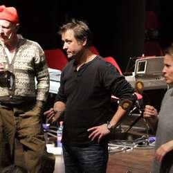 Otto saman med lærarane Jon S. Sæbø og Patricia Langeland. (Foto: Kjetil Vasby Bruarøy)