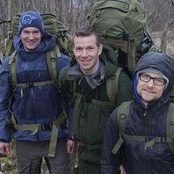 I trening i mars, to månadar før avreise. (Foto: KVB)