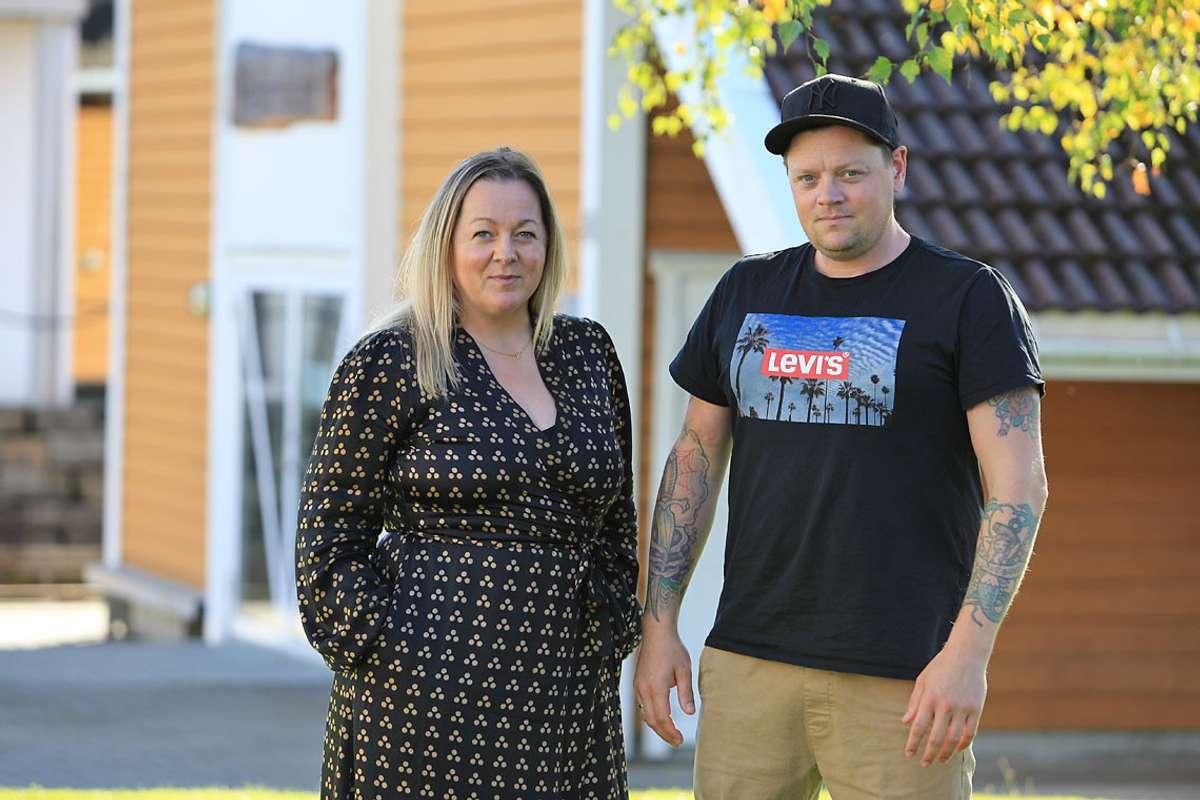 Marthe Kristensen og Christoffer Kobbeltvedt. (Foto: KVB)